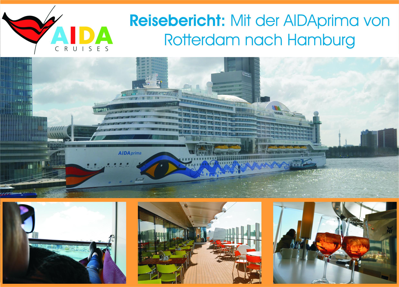 AIDAprima von Rotterdam nach Hamburg   Linas Reiseagentur